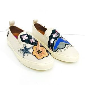NWOT Coach Embroidered Sequin Star SlipOn Sneakers